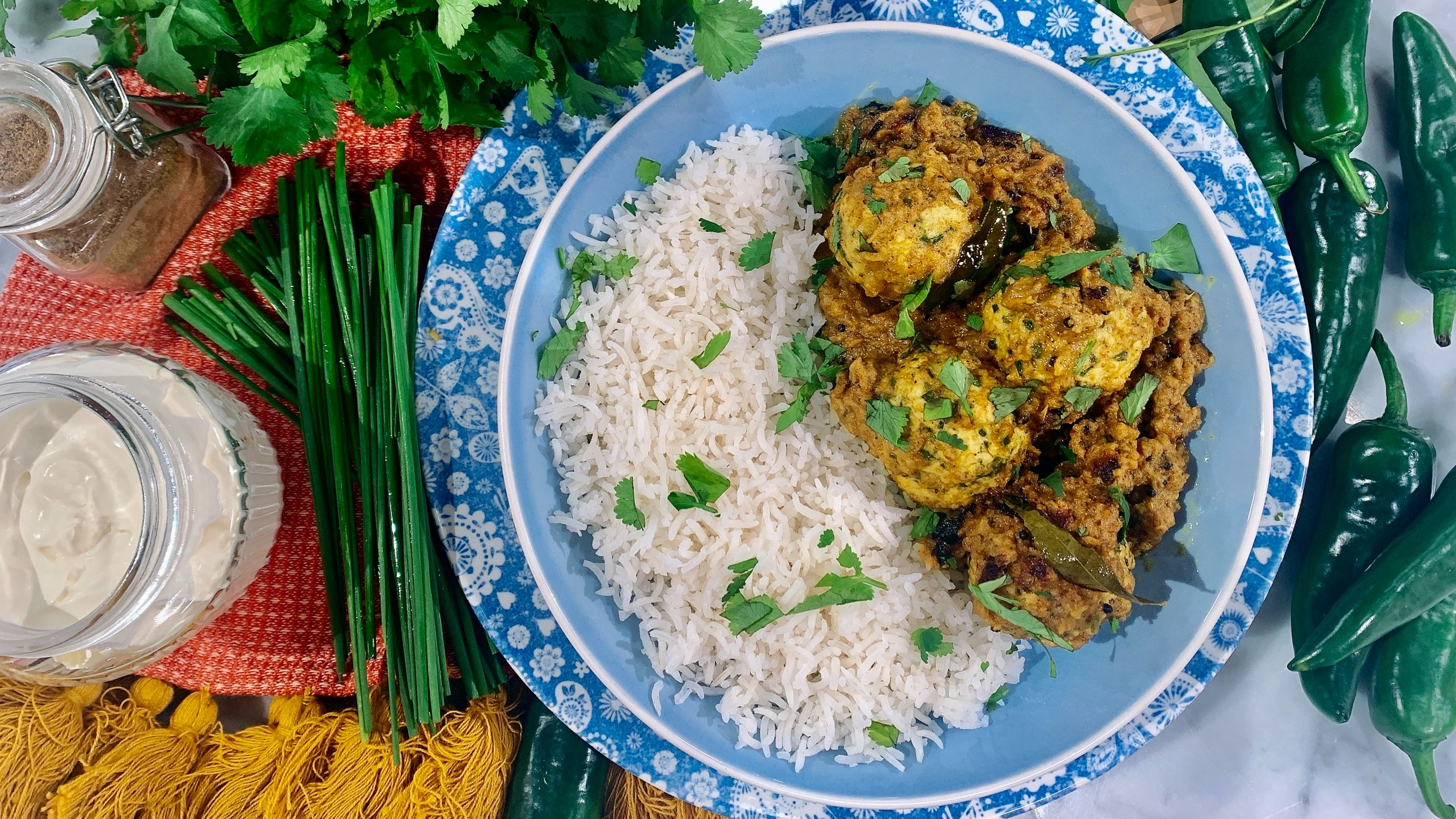 Nisha Katona's South Indian meatball curry