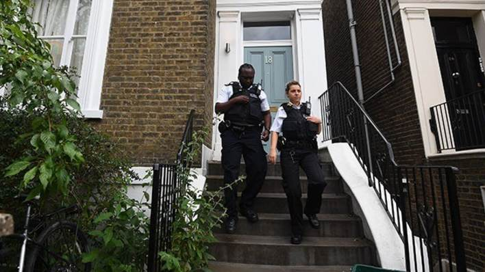 Police attended Mr Cummings' London home on Sunday afternoon