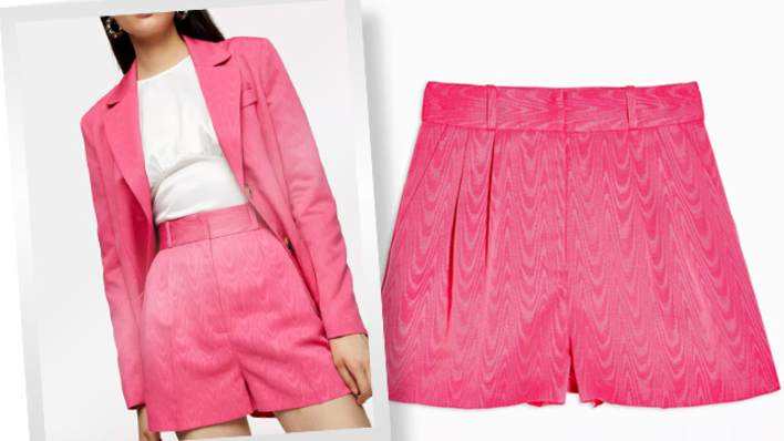 Amber's perfect pink pair of shorts