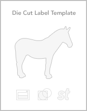 Die cut roll label templates