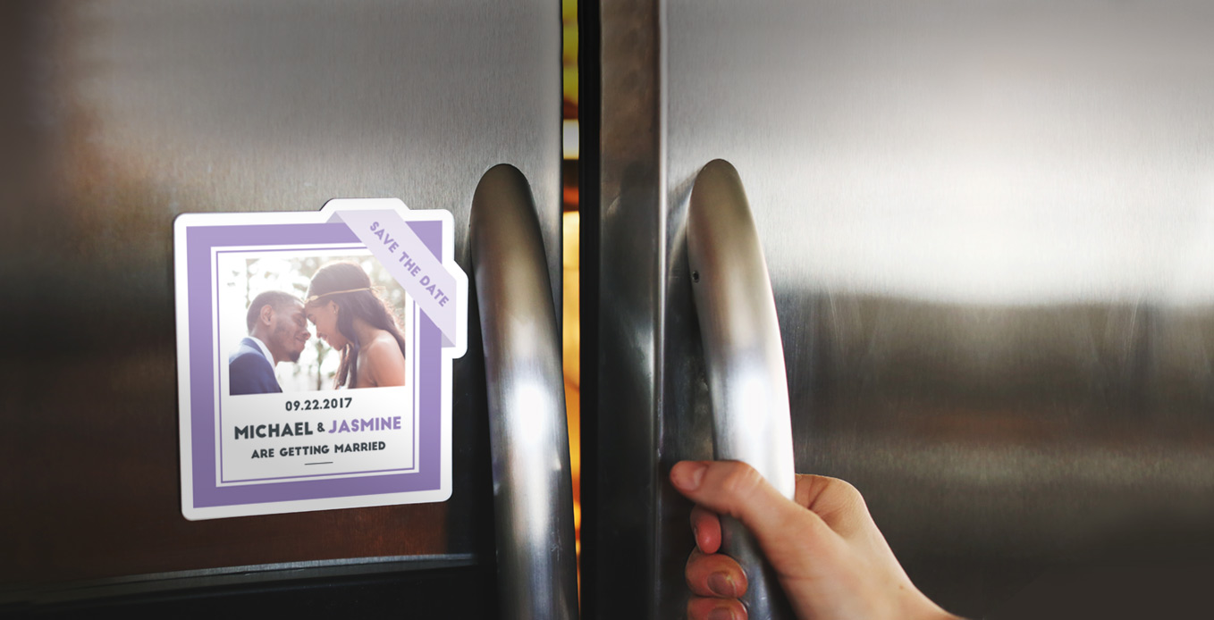 Save the date magnets by Sticker Mule