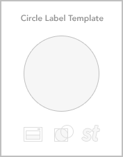 Circle roll label templates