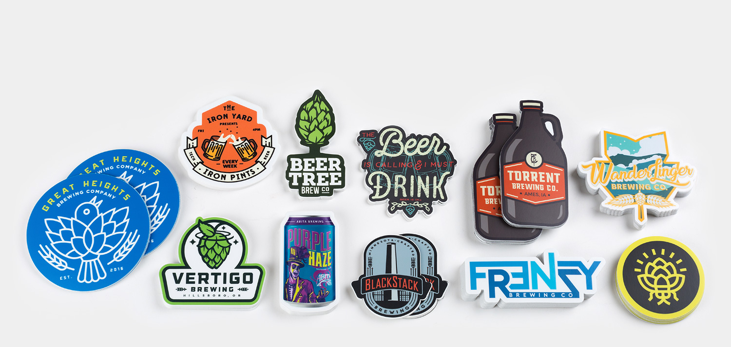 Craft Beer Brewery Decal~ Bottle Label Sticker ~NEW Iron John/'s Brewing Co