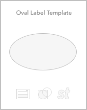 Oval roll label templates