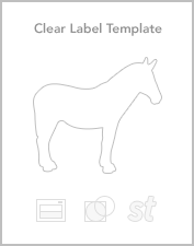 Clear roll label templates