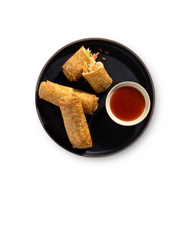 Chicken Egg Rolls Plated