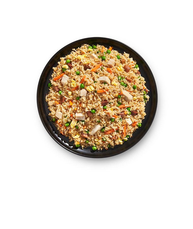 Combination Fried Rice Plated