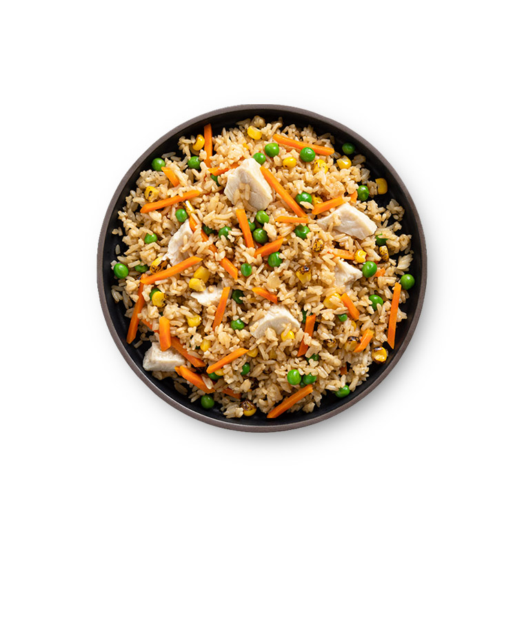Chicken Fried Rice Plated