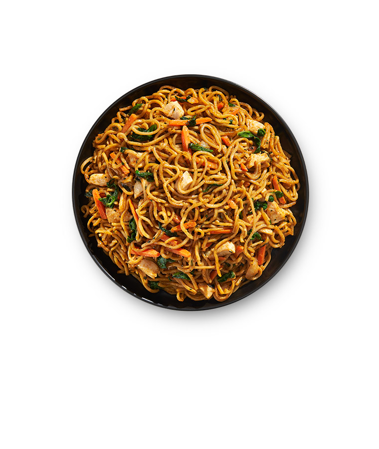 Spicy Korean Noodles Plate