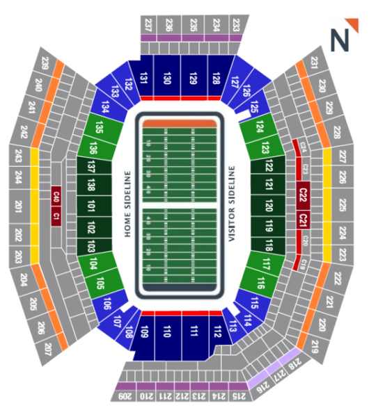 Philadelphia Eagles Seating Chart at Lincoln Financial Field