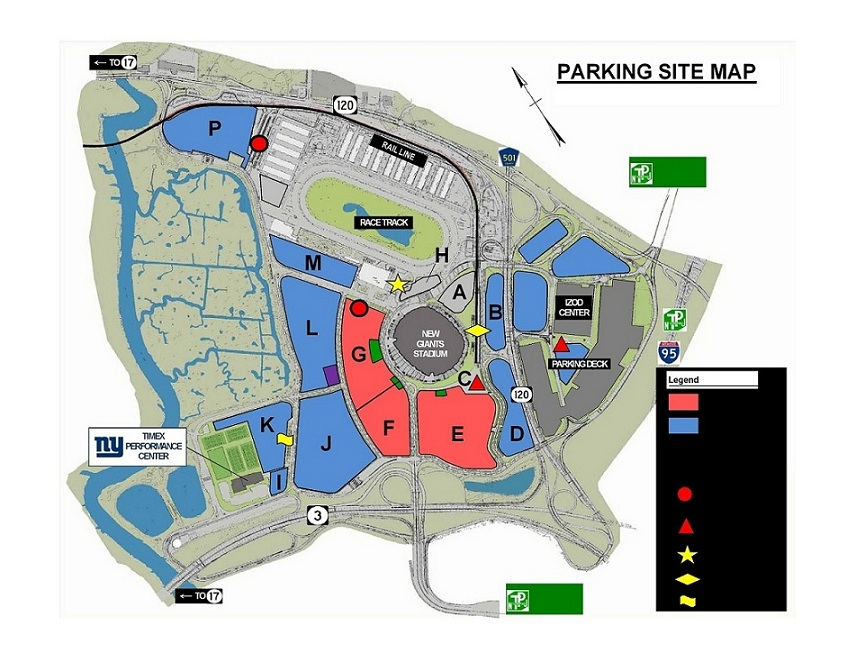 Giants Parking Map