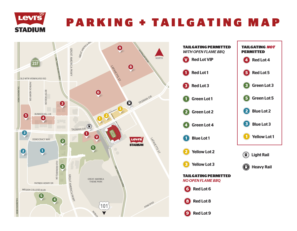Buy and Sell Parking Pes for the San Francisco 49ers SBL at ... Dallas Stadium Parking Map on