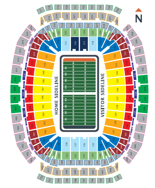 Houston texans seating chart at nrg stadium