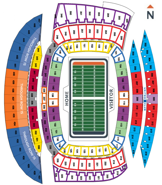 Chicago Bears Seating Chart at Soldier Field