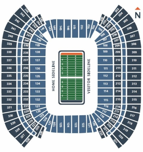 Tennessee Titans Seating Chart At Nissan Stadium