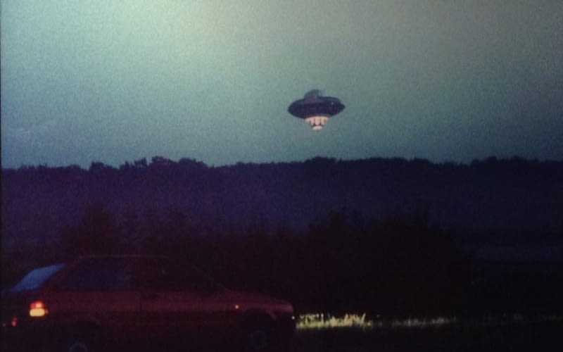 The UFO flown over London as a prank