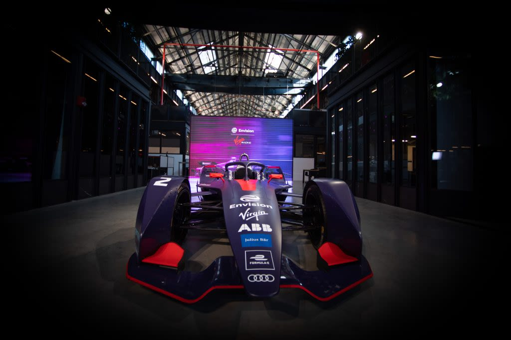 Envision Virgin Racing's car at the Innovation Summit in New York