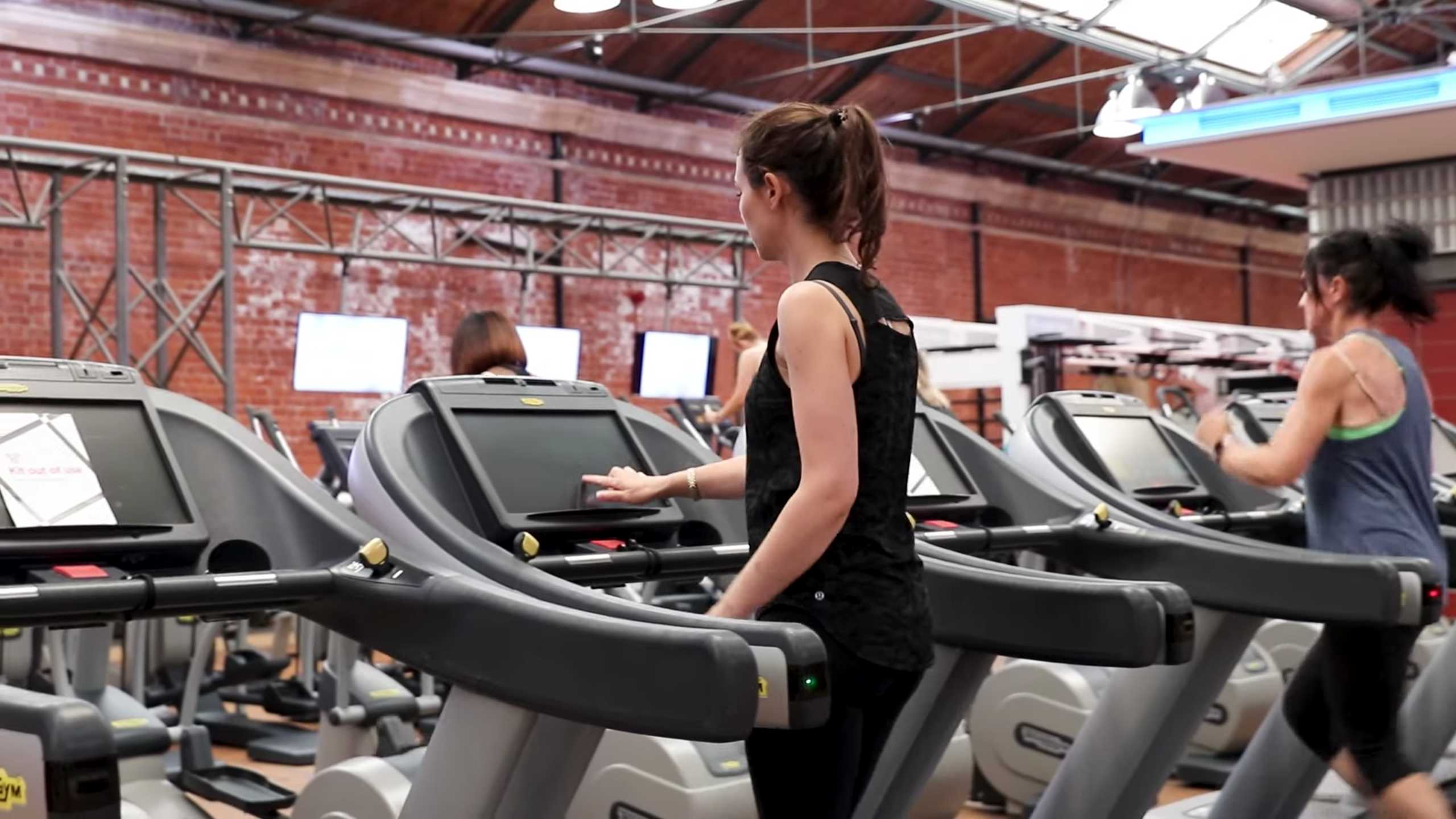 Virgin Active members maintain social distancing while working out