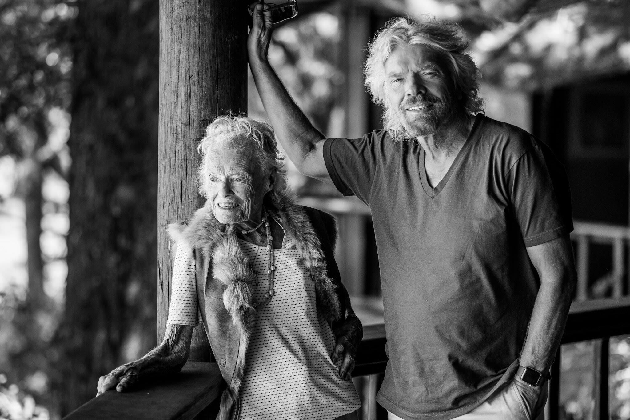 Richard Branson with his mum Eve