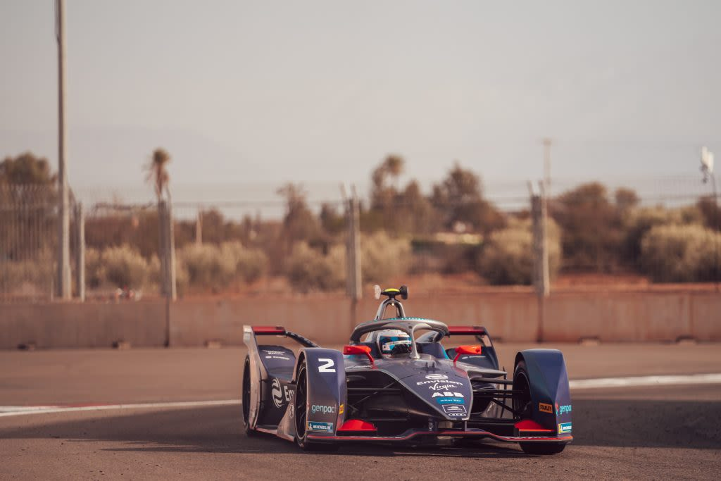Envision Virgin Racing car at the Marrakesh E-Prix