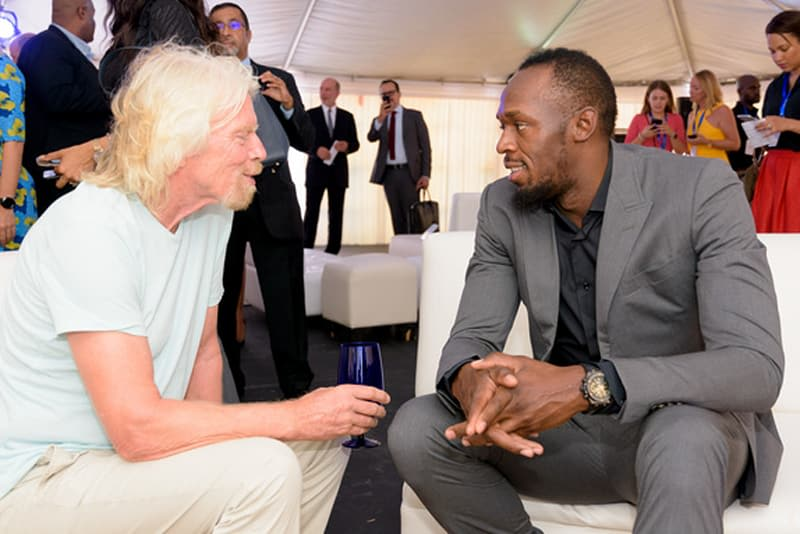 Richard Branson and Usain Bolt  Image from the Caribbean Accelerator