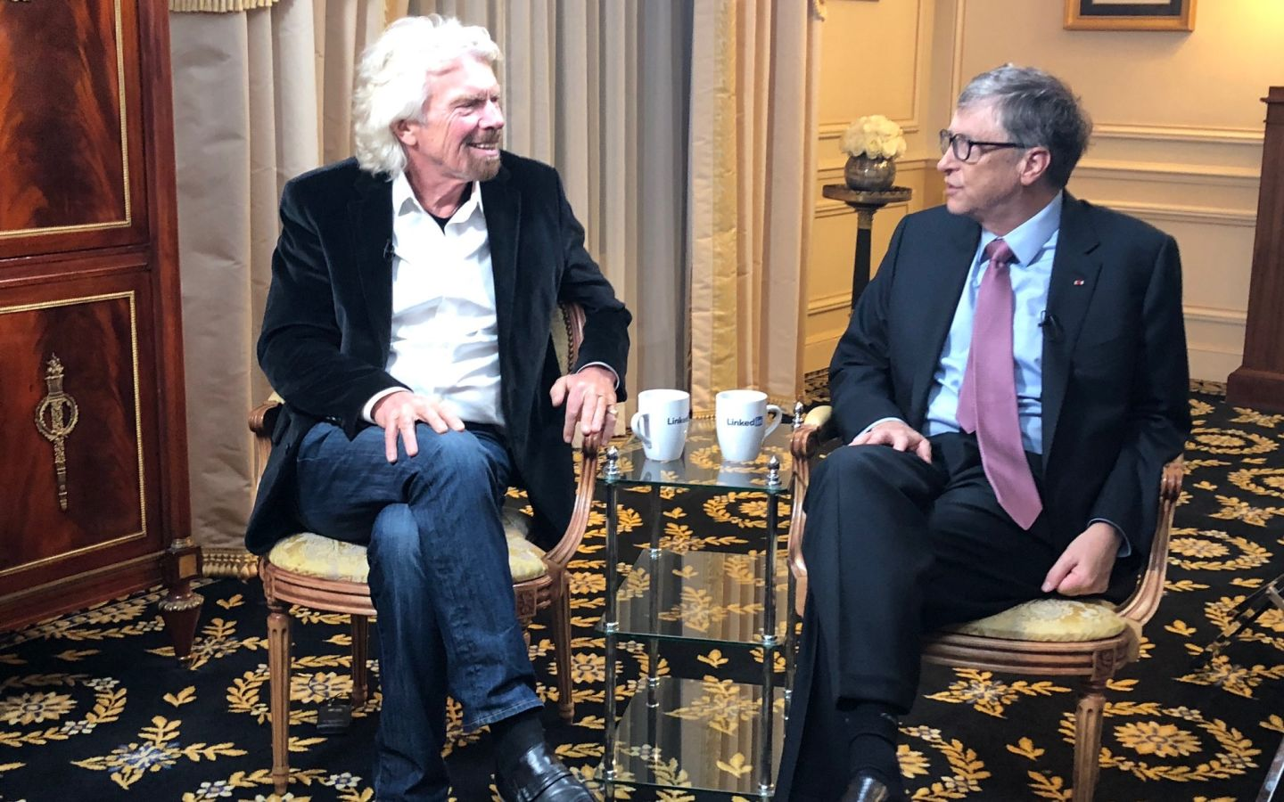 Richard Branson with Bill Gates