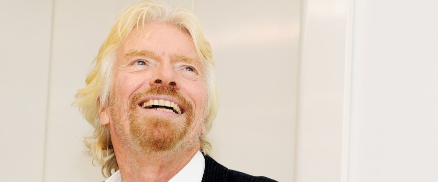 Close up of Richard Branson smiling