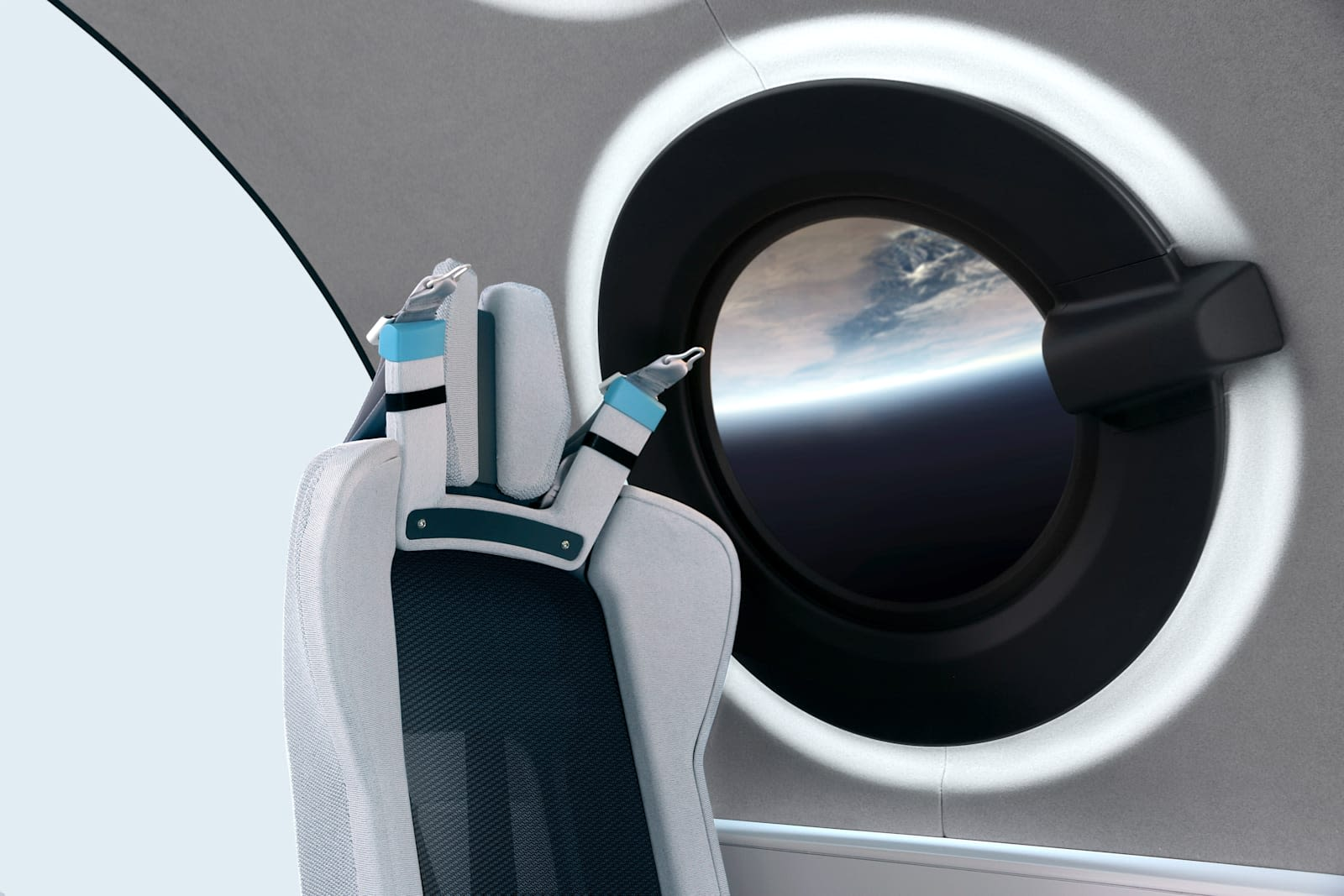 Photo of Virgin Galactic's spaceship cabin interior