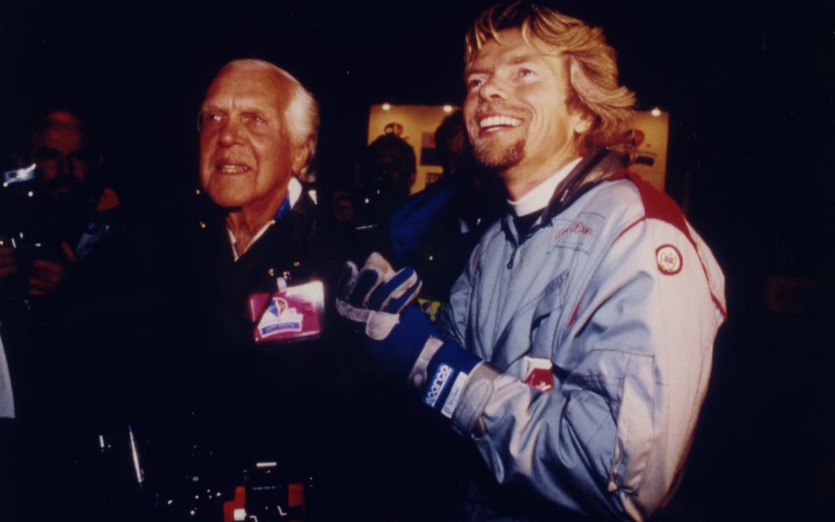 Richard Branson with his father Ted Branson