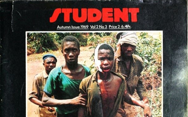 Cover of the Student magazine from Autumn 1969 with picture of wounded children from the Biafran war
