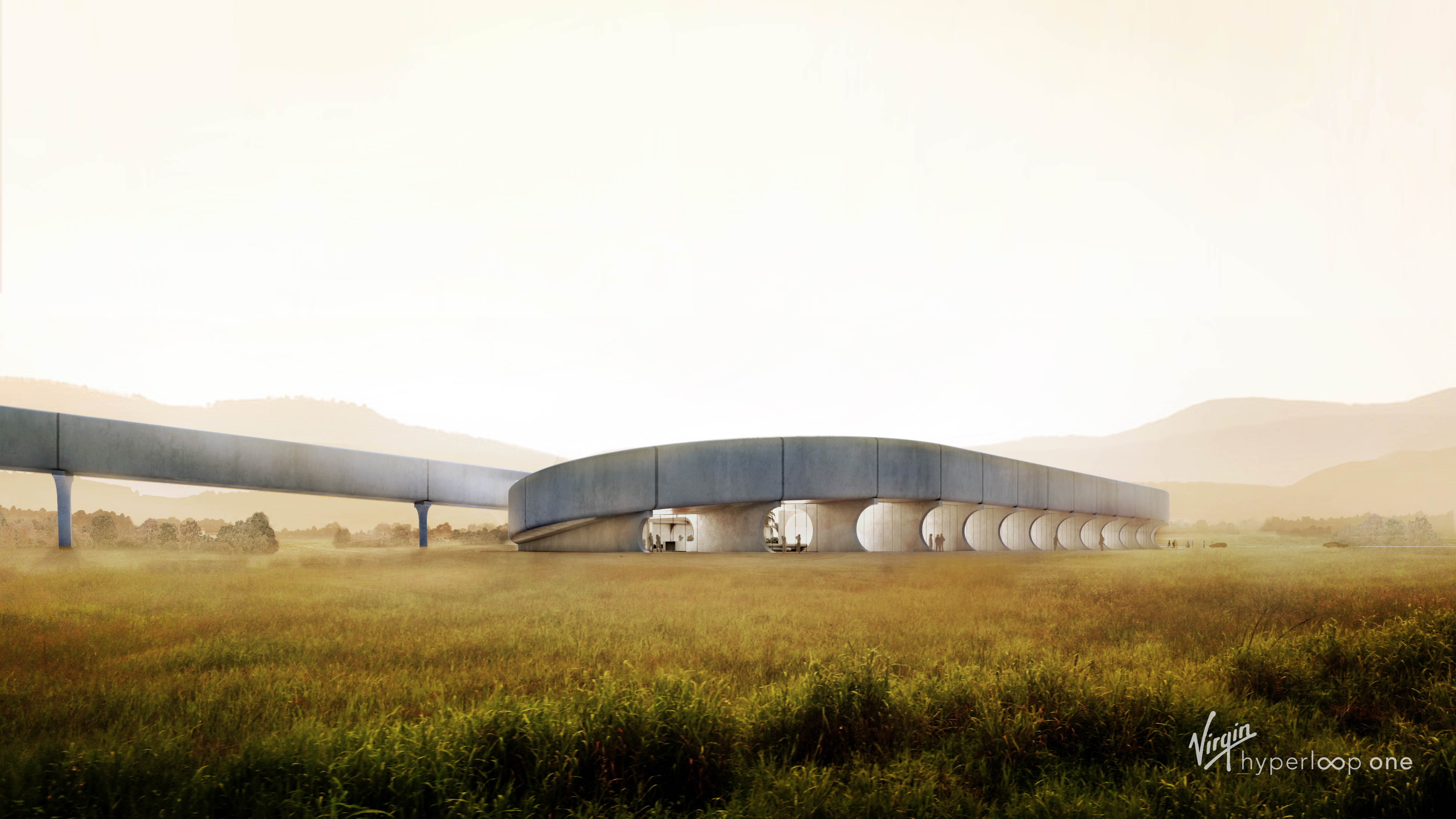India Hyperloop with vast open space and mountains