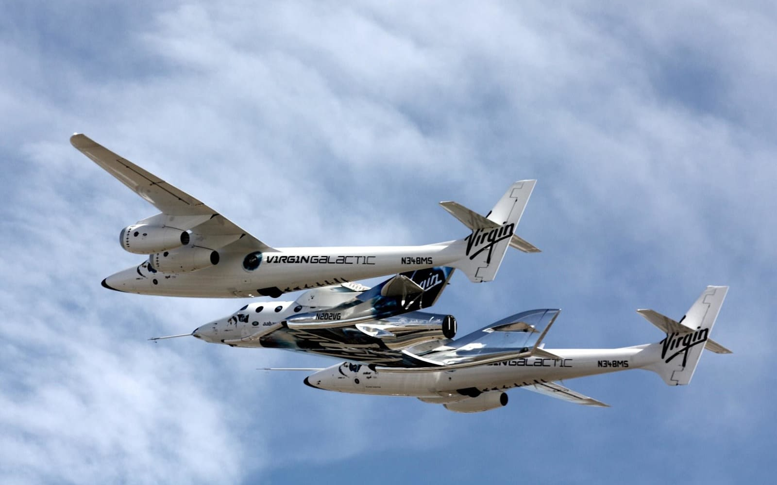 Virgin Galactic's VMS Eve and VSS Unity
