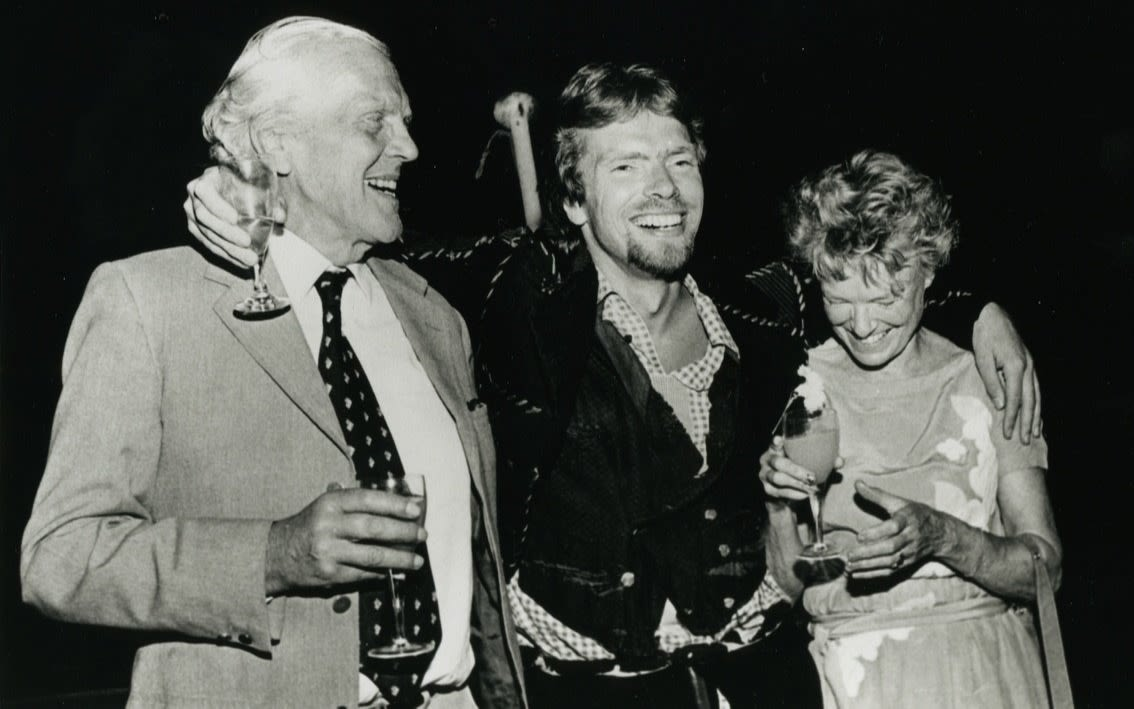 Richard Branson with his mother, Eve and father, Ted