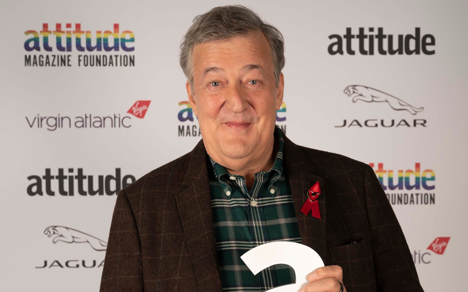 Stephen Fry at the Virgin Atlantic Attitude Awards 2020