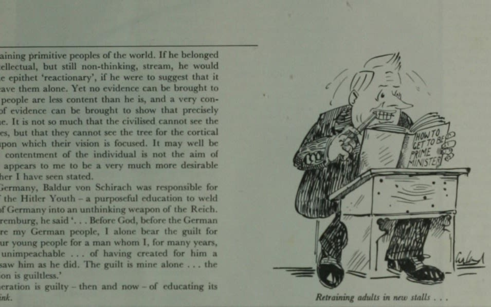 A student magazine cartoon