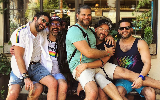 Billy Bohan Chinique celebrating Pride with friends