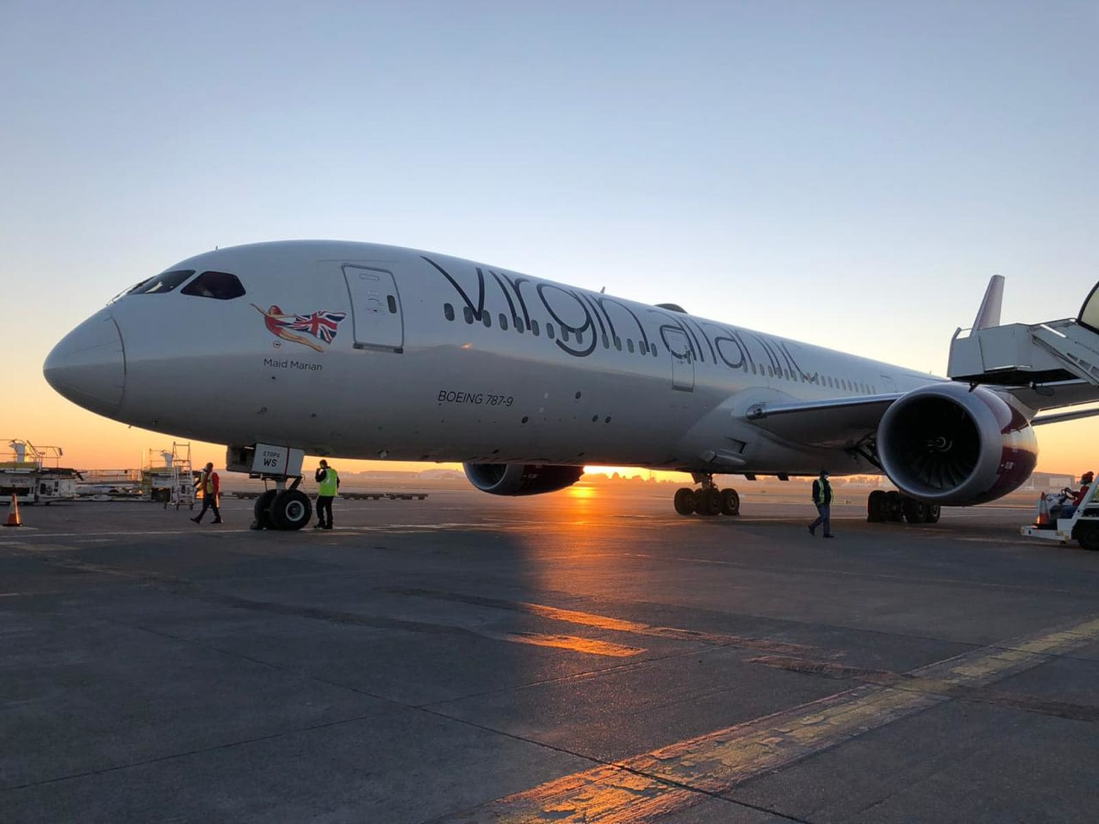 Virgin Atlantic plane flying supplies to Africa