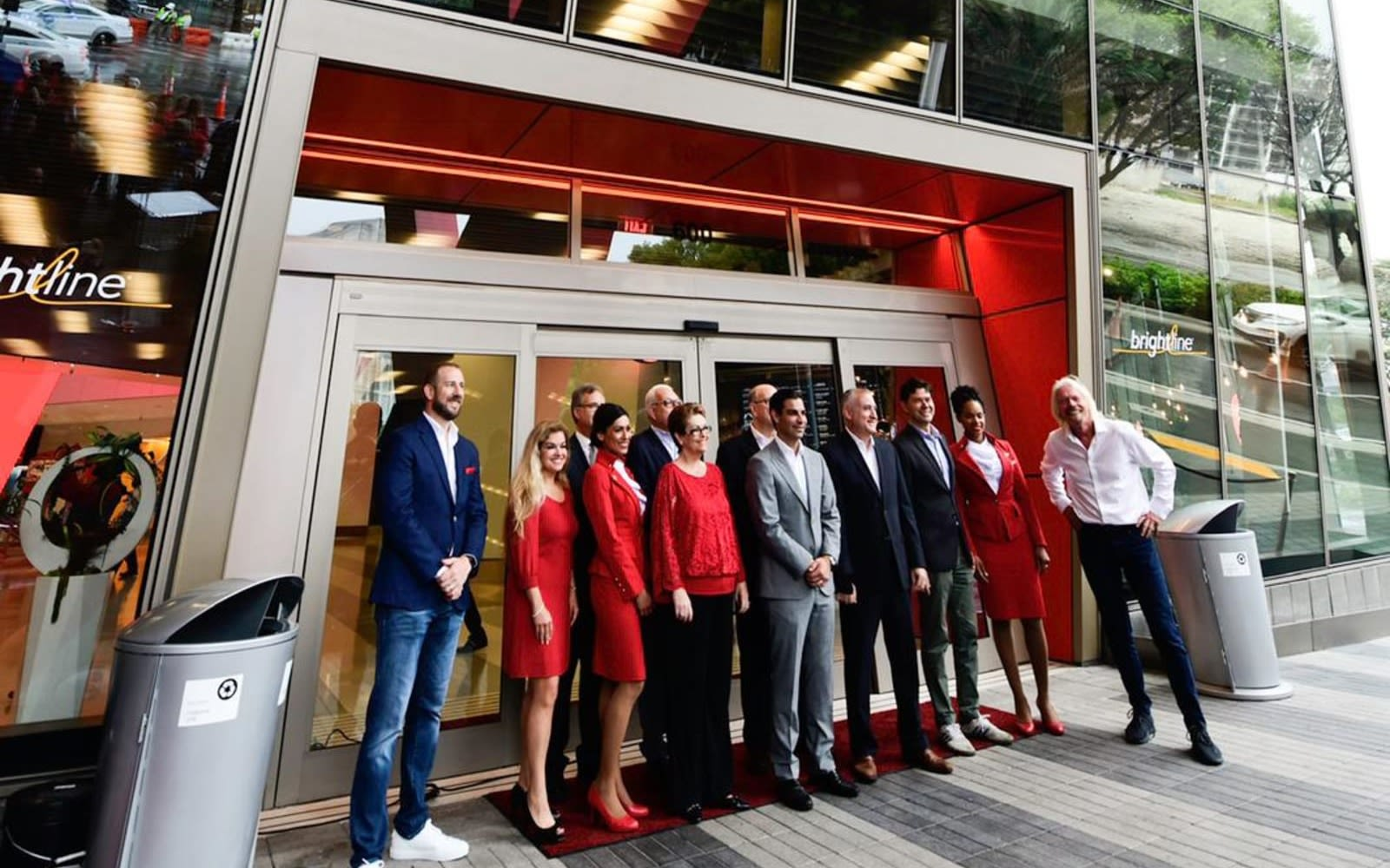 Richard Branson and the Virgin Trains USA team at Virgin MiamiCentral