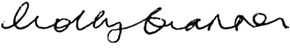 Holly Branson's signature