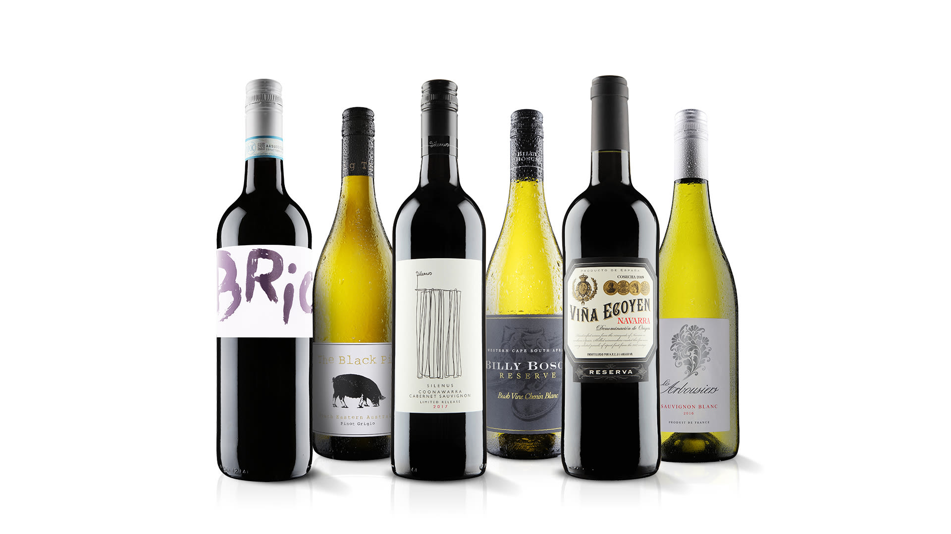 Six wines from Virgin Wines