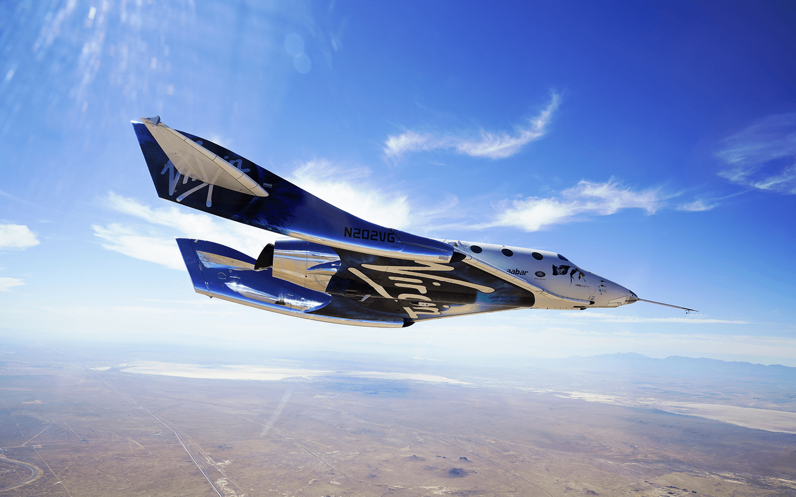 VSS Unity gliding through the sky