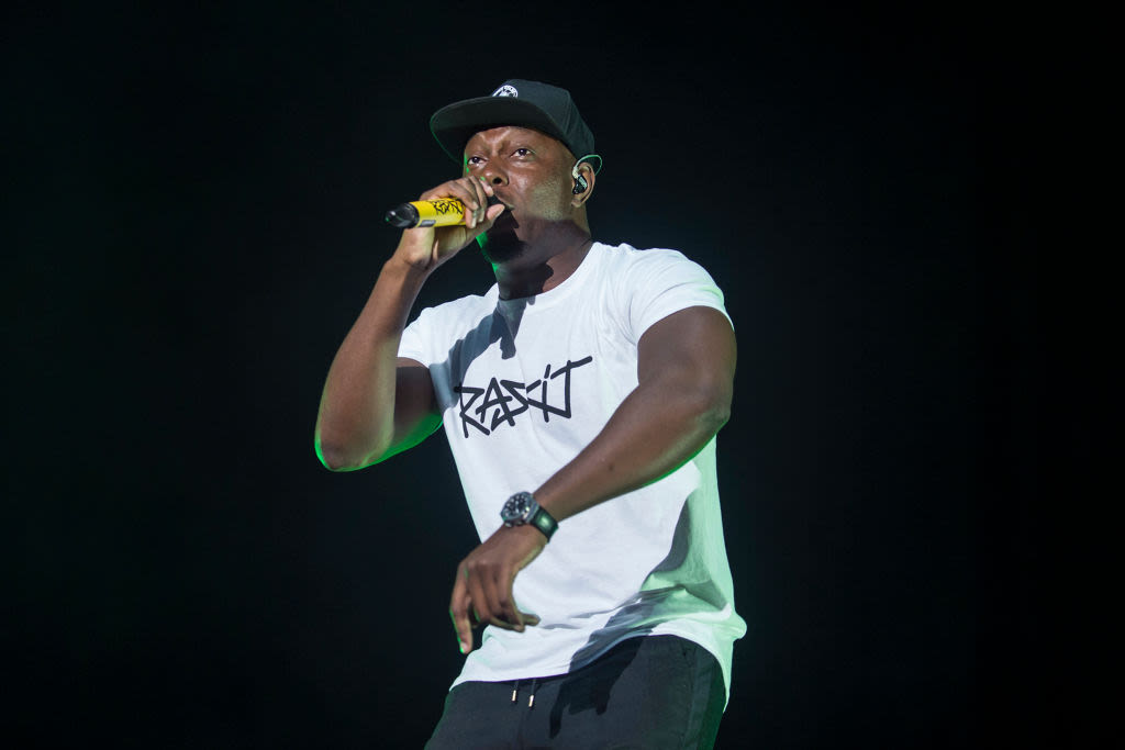 Dizzee Rascal performing at V Festival