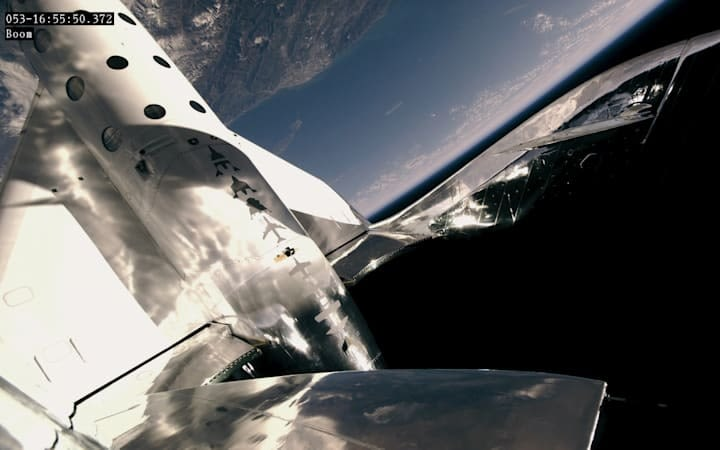 VSS Unity during Virgin Galactic's second spaceflight