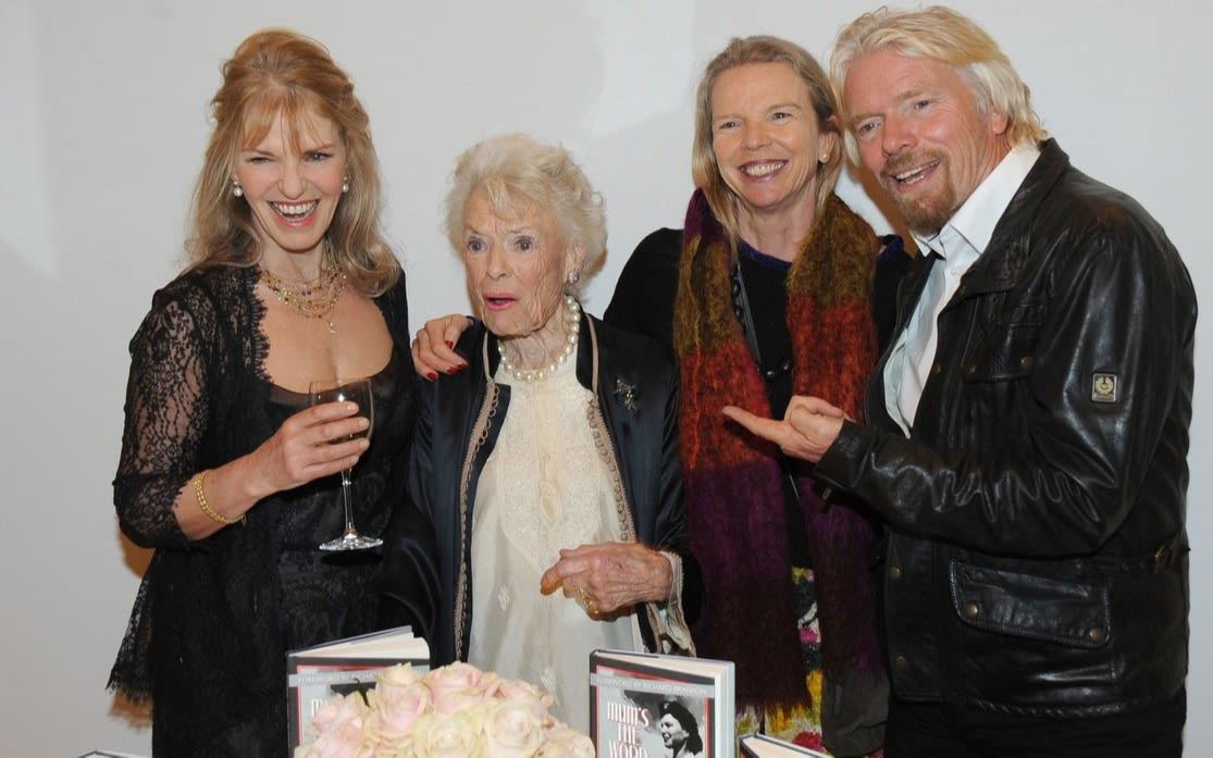 Richard Branson with his mother Eve and sisters Lindy and Vanessa