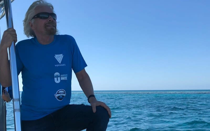 Richard Branson looking out to sea