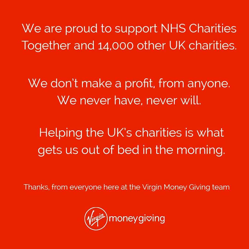 Image from Virgin Money Giving