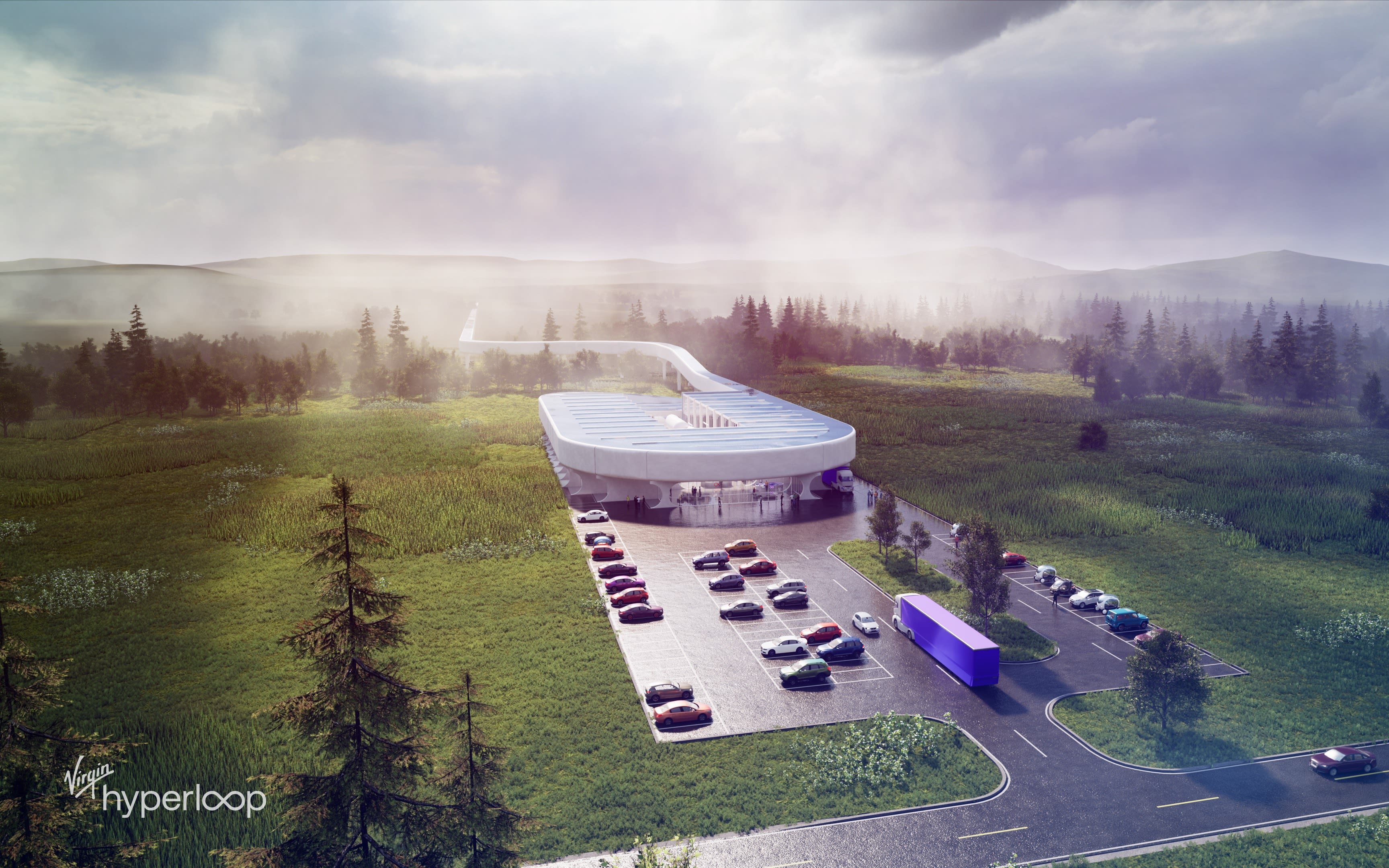 Rendering of the Hyperloop Certification Center