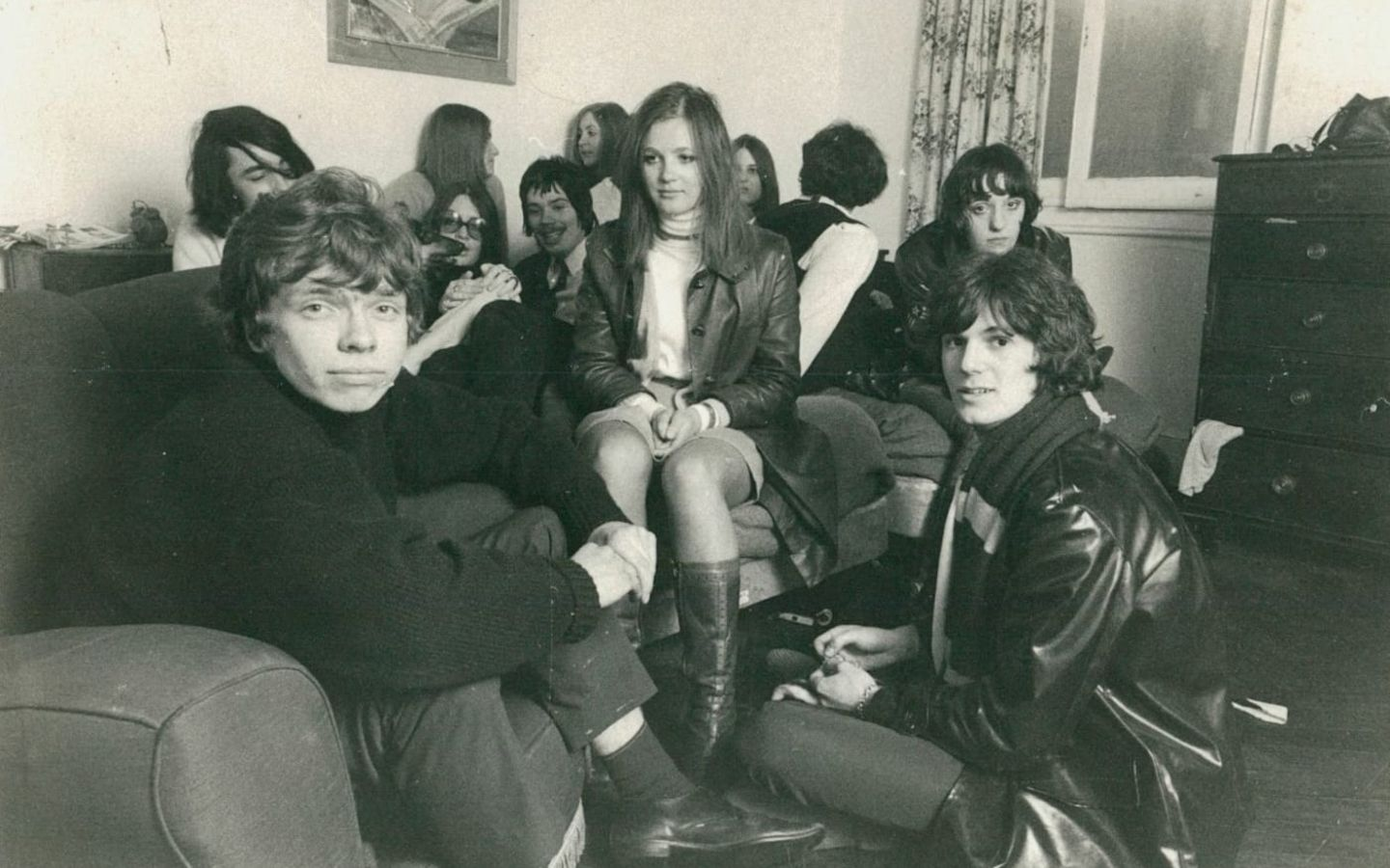 Richard Branson and friends when they were students
