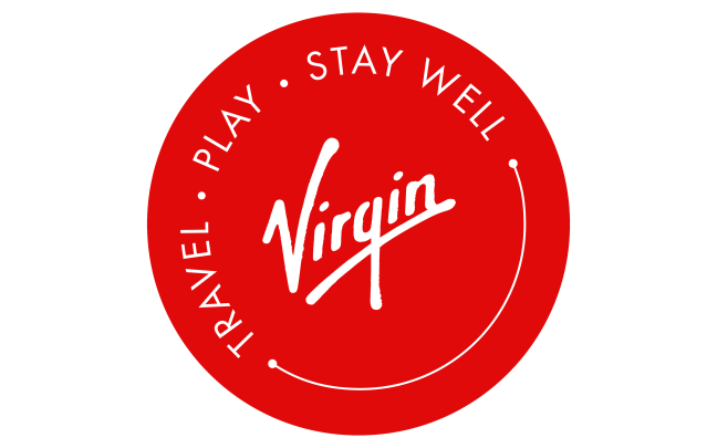 Virgin's 'travel play stay well' logo