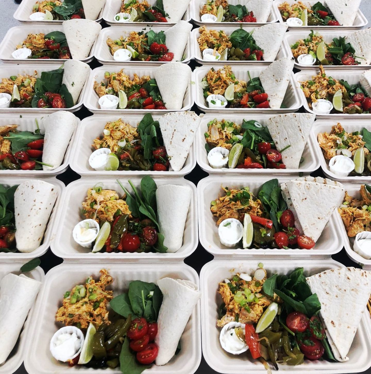 Vital Meals boxed and ready to be delivered through London